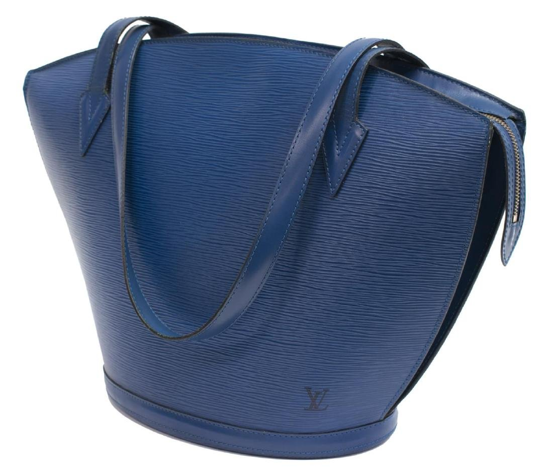 LOUIS VUITTON 'ST. JACQUES' BLUE EPI LEATHER BAG