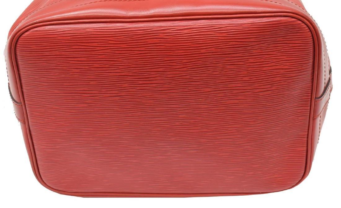 LOUIS VUITTON 'NOE GM' RED EPI LEATHER BUCKET BAG - 3