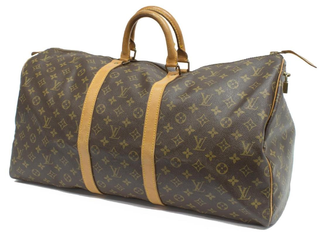 LOUIS VUITTON 'KEEPALL 55' MONOGRAM CANVAS BAG