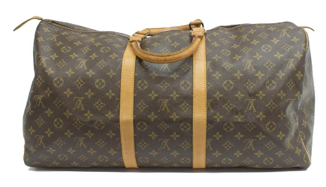 LOUIS VUITTON 'KEEPALL 55' MONOGRAM CANVAS BAG - 2