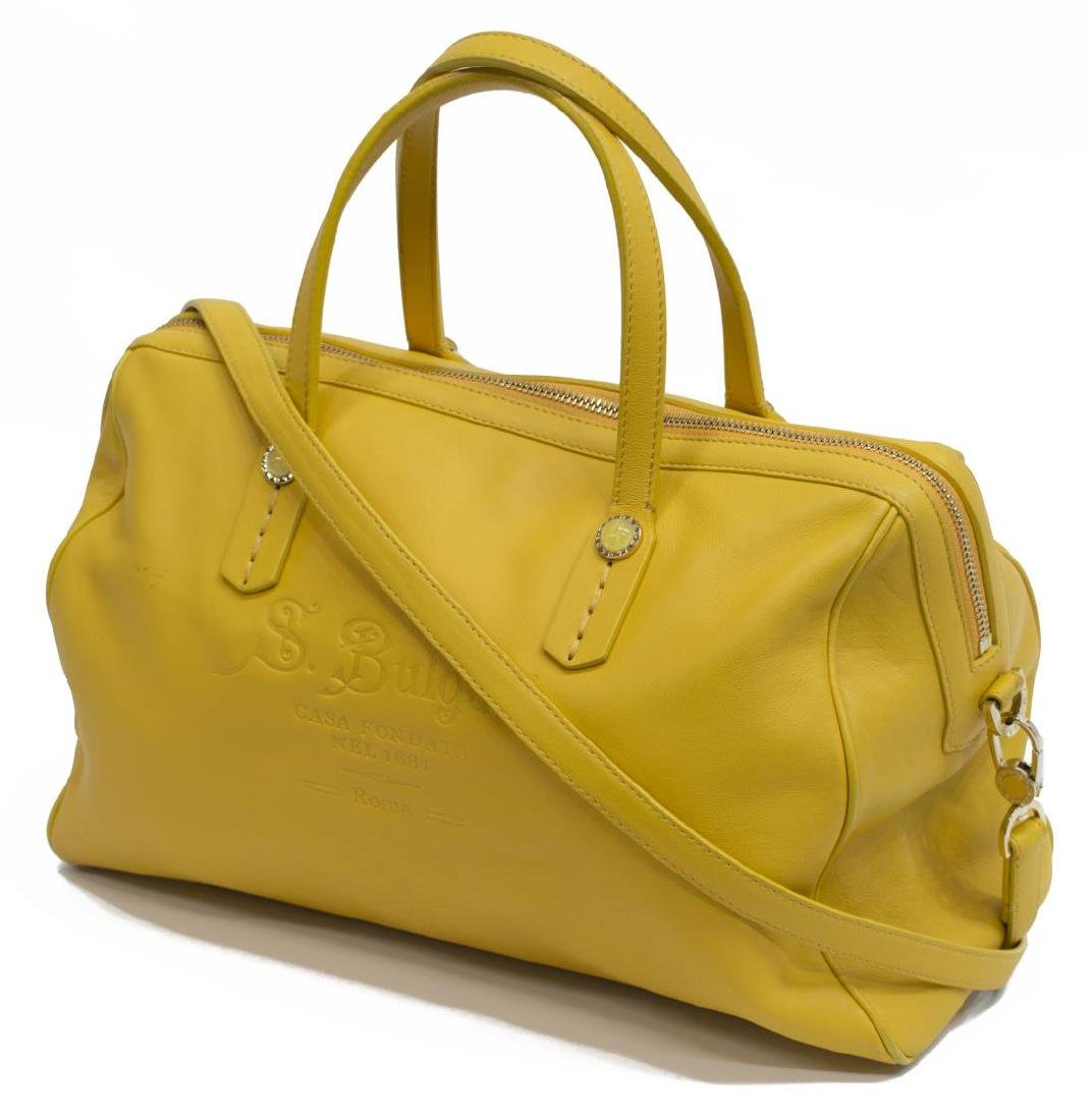 BVLGARI YELLOW SOFT LEATHER BOSTON BAG