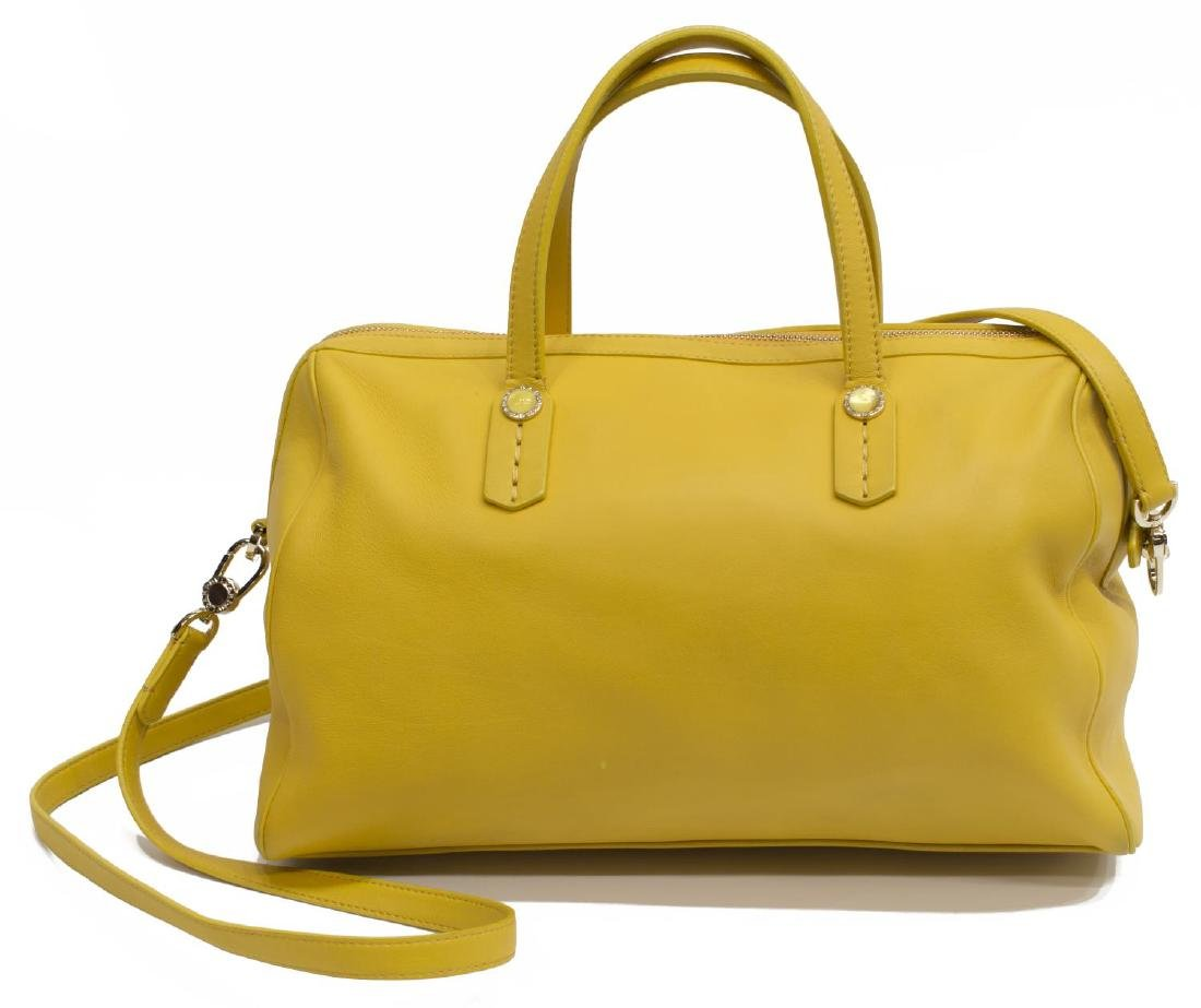 BVLGARI YELLOW SOFT LEATHER BOSTON BAG - 2
