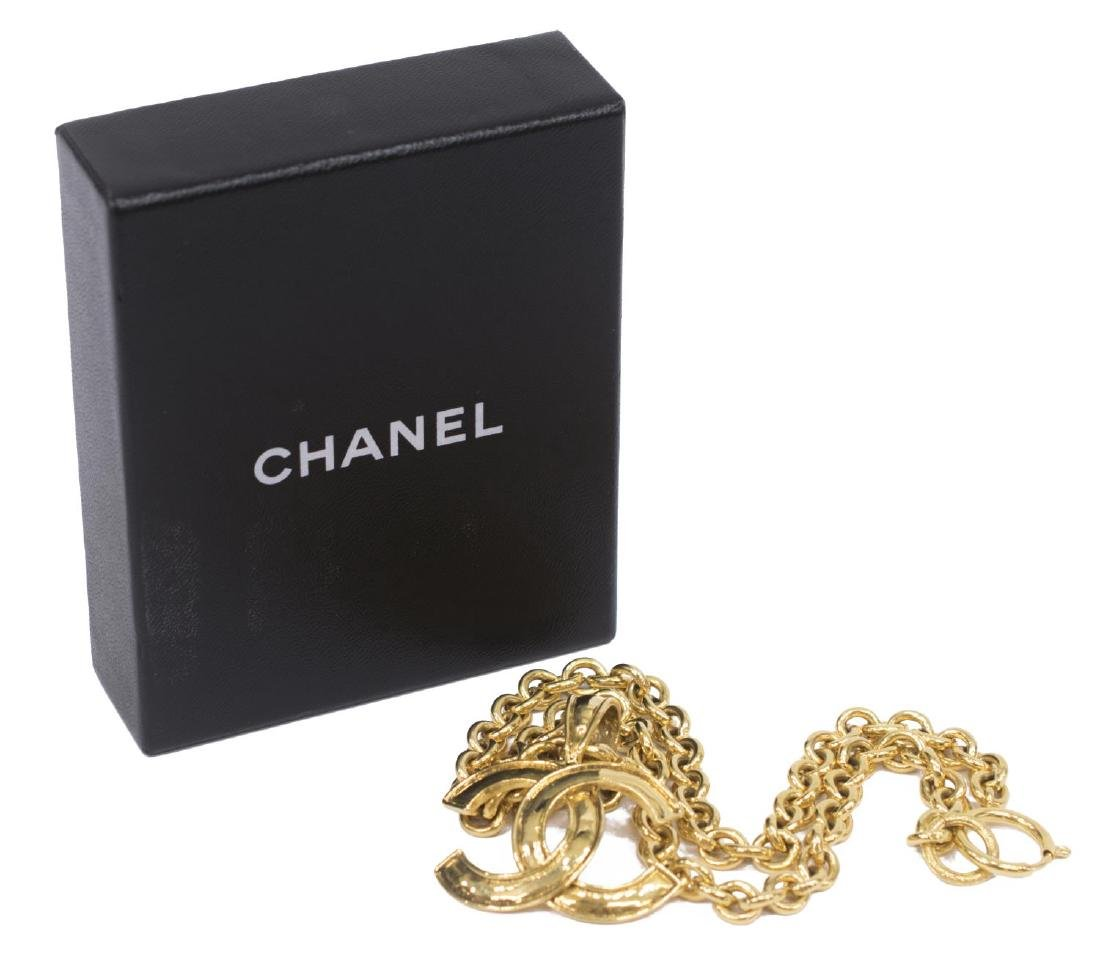 CHANEL CC GOLD TONE CHAIN LINK NECKLACE