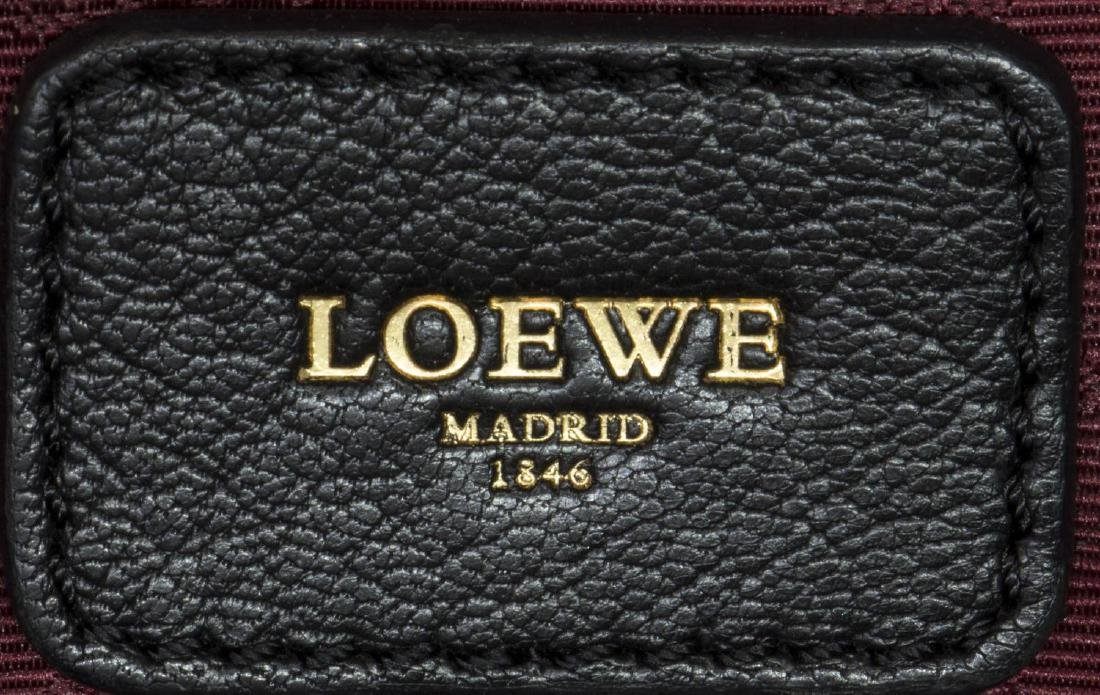 LOEWE 'AMAZONA' BLACK PEBBLED LEATHER HANDBAG - 5
