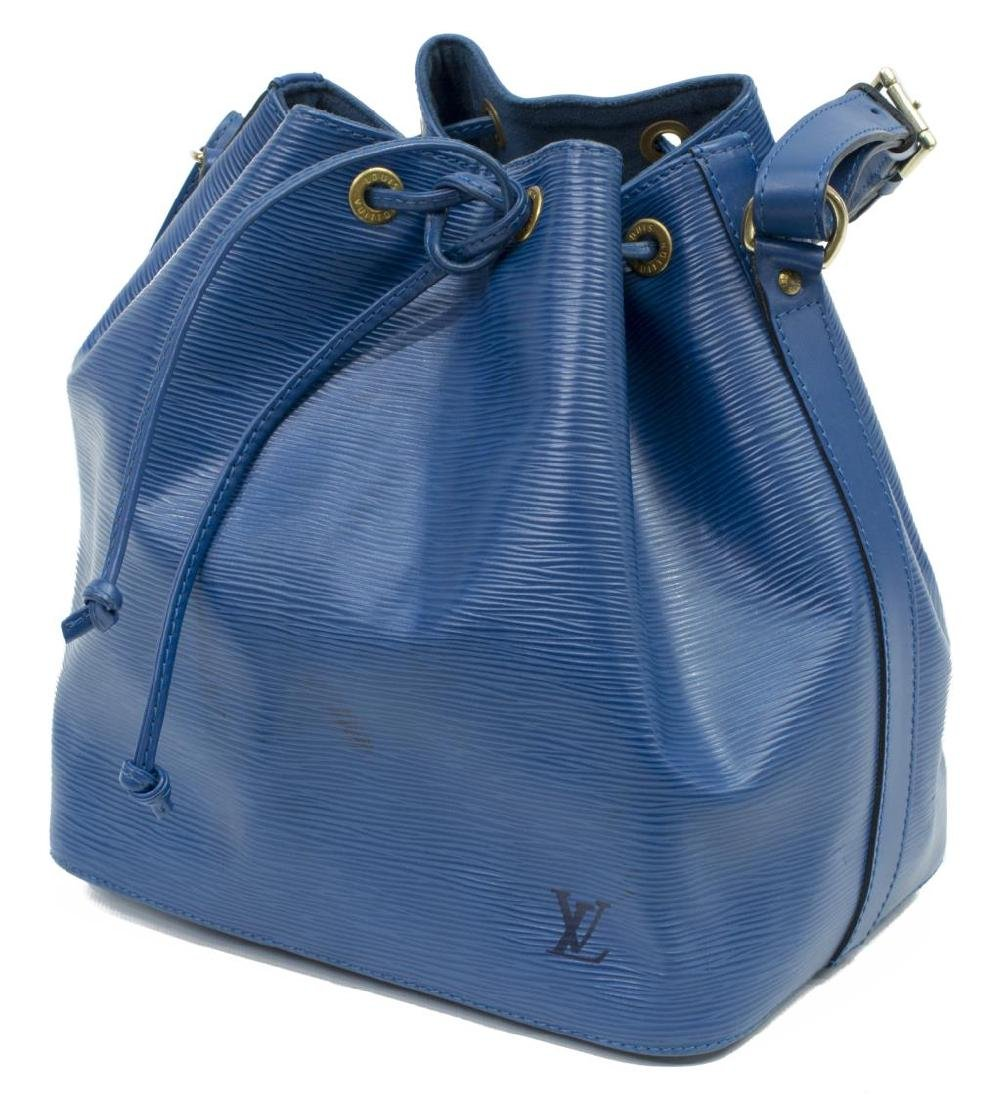 LOUIS VUITTON 'NOE' BLUE EPI LEATHER HANDBAG