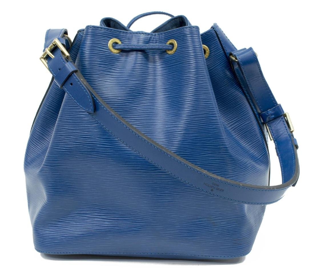 LOUIS VUITTON 'NOE' BLUE EPI LEATHER HANDBAG - 2