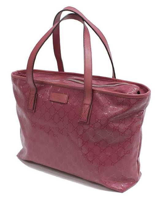 914c1bcf607818 GUCCI 'IMPRIME MEDIUM' GG RED TOTE BAG