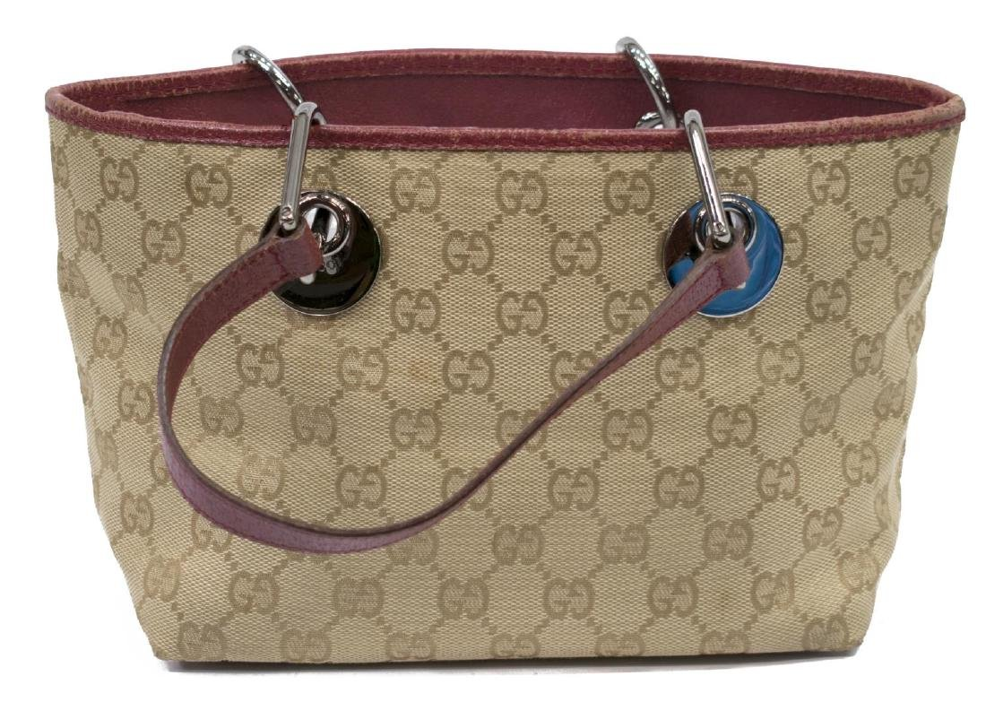 GUCCI 'ECLIPSE MINI' GG MONOGRAM CANVAS TOTE BAG - 2