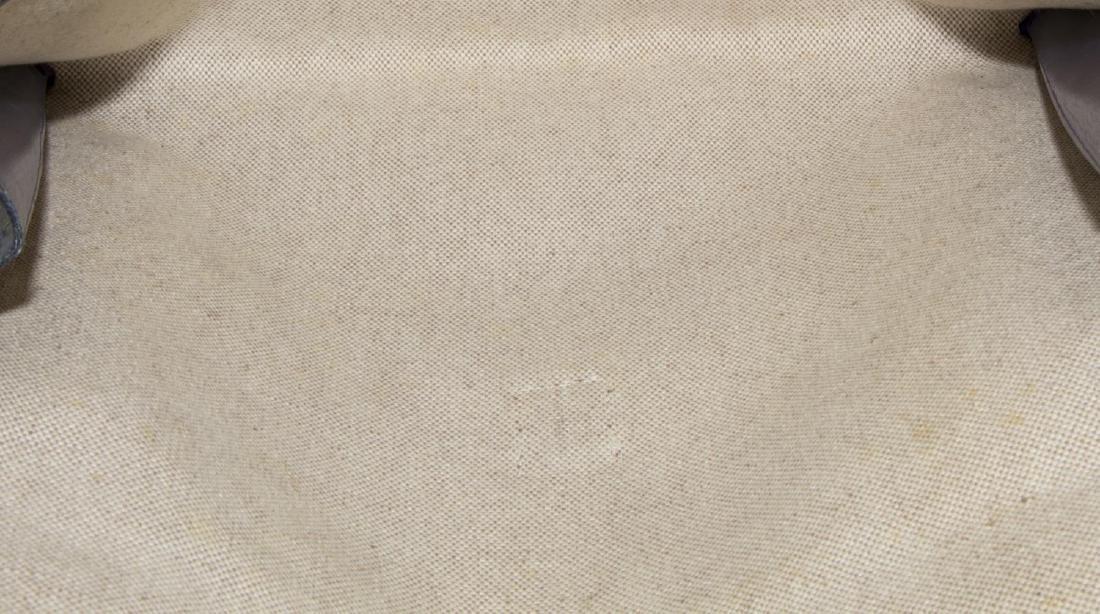 HERMES 'JIGE' ROYAL BLUE BOX LEATHER CLUTCH - 4