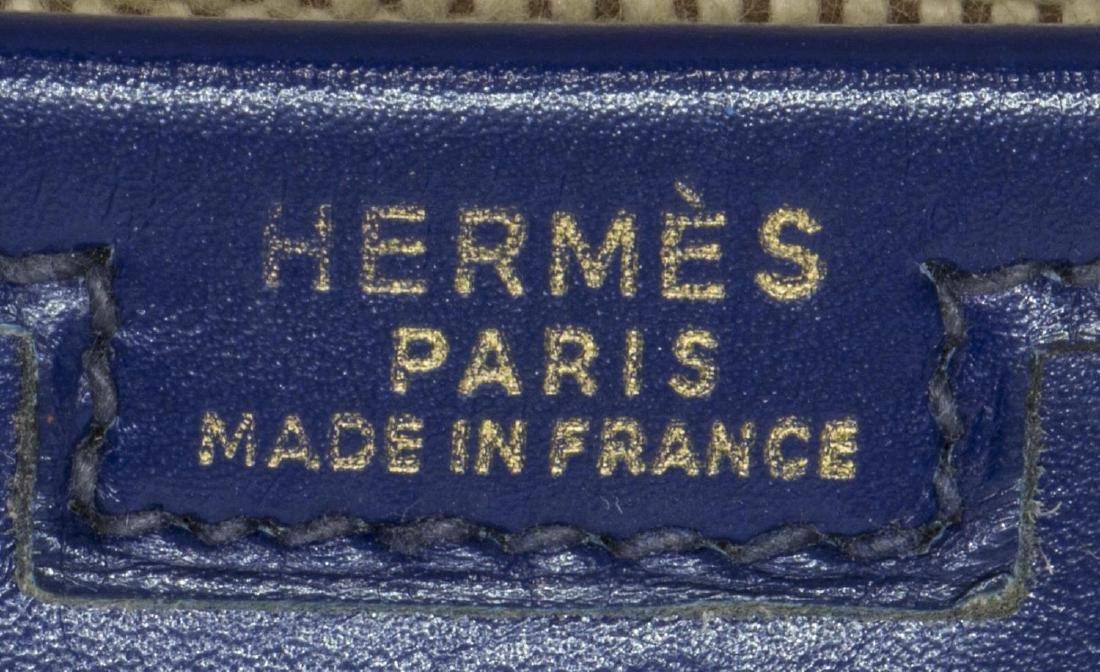 HERMES 'JIGE' ROYAL BLUE BOX LEATHER CLUTCH - 5