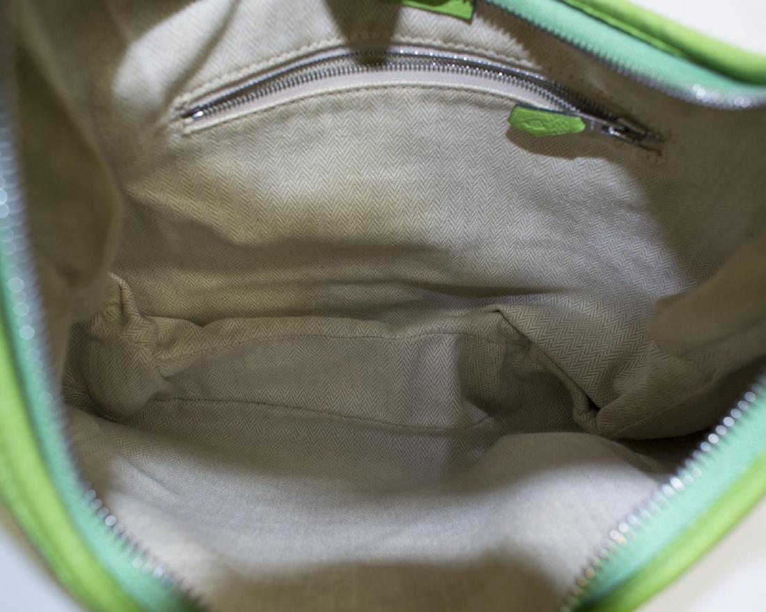 HERMES 'CLEMENCE GAO' GREEN LEATHER SHOULDER BAG - 4