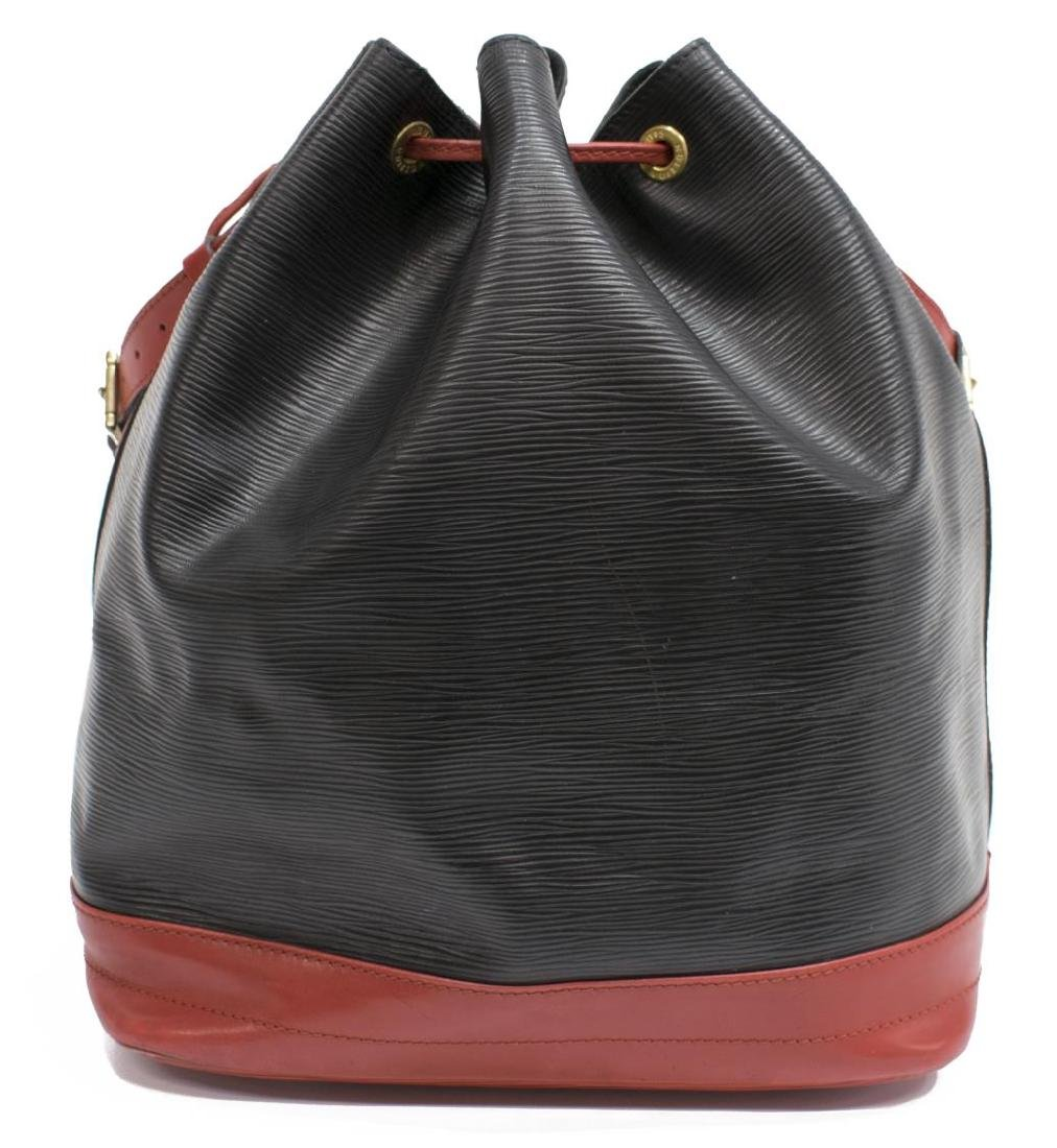 LOUIS VUITTON 'NOE' BLACK & RED EPI LEATHER BAG - 2