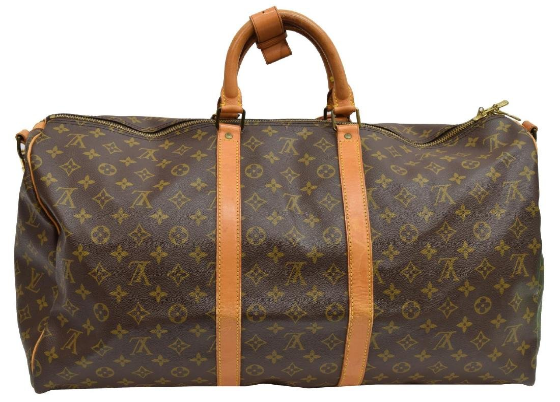 LOUIS VUITTON 'KEEPALL 55 BANDOULIERE' DUFFLE BAG - 2