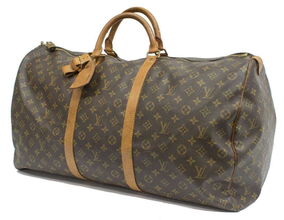 LOUIS VUITTON 'KEEPALL 60' MONOGRAM CANVAS BAG