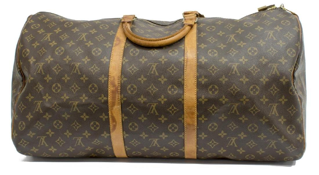 LOUIS VUITTON 'KEEPALL 60' MONOGRAM CANVAS BAG - 2