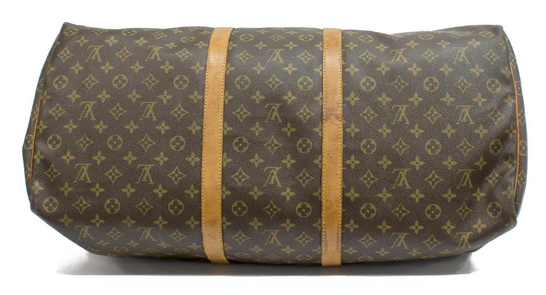LOUIS VUITTON 'KEEPALL 60' MONOGRAM CANVAS BAG - 3