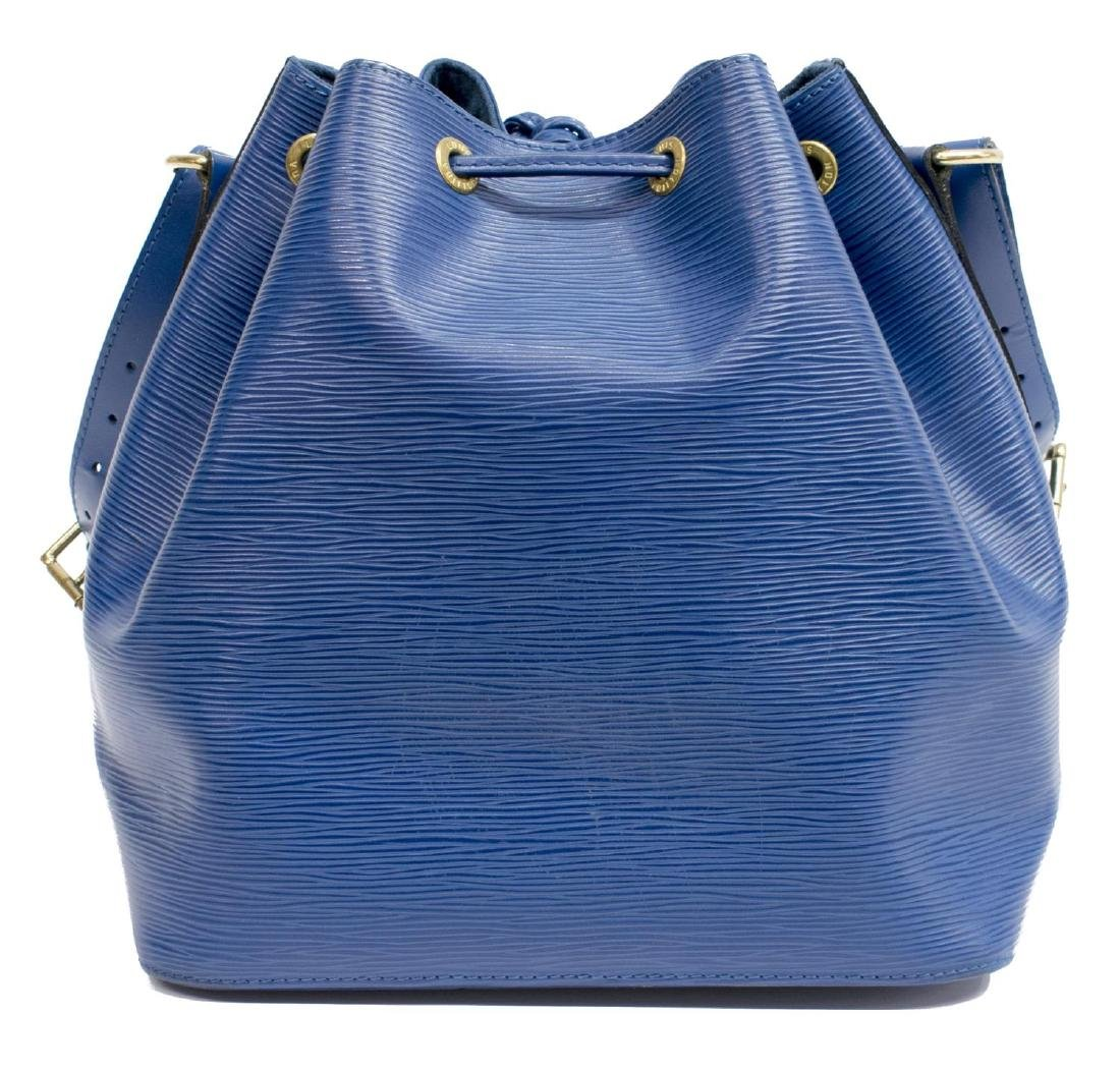 LOUIS VUITTON 'NOE' BLUE EPI LEATHER BUCKET BAG - 2