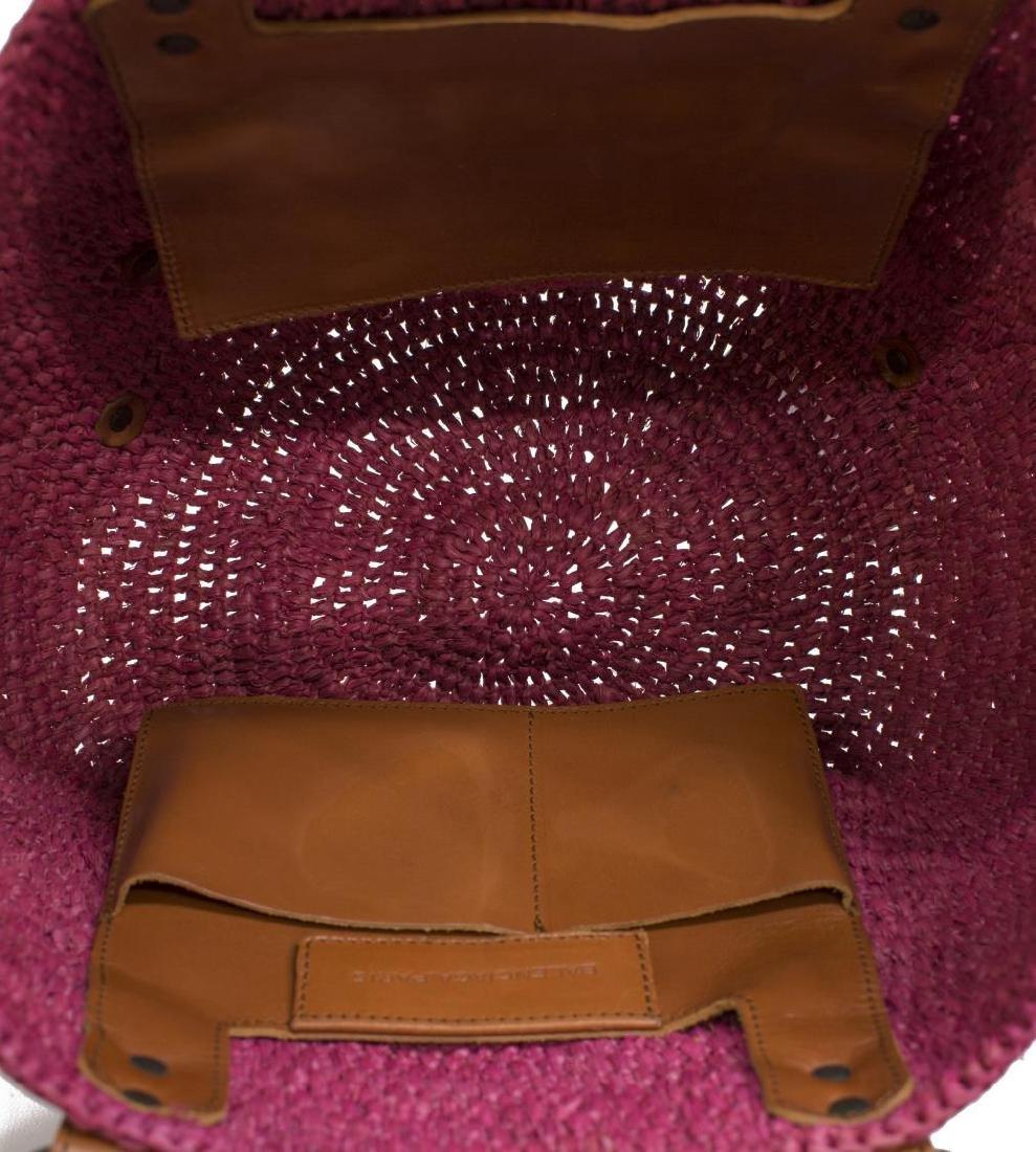 BALENCIAGA 'CLASSIC PANIER BASKET' WOVEN STRAW BAG - 4