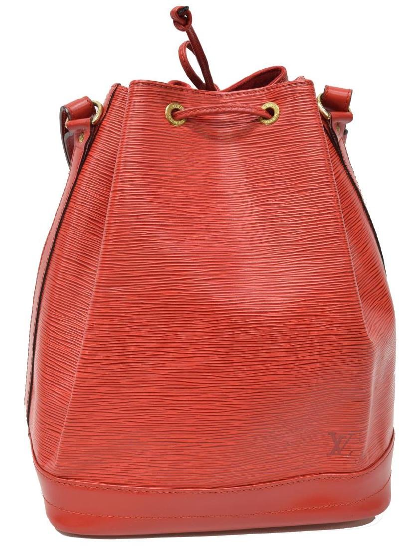 LOUIS VUITTON 'NOE GM' RED EPI LEATHER BUCKET BAG - 2