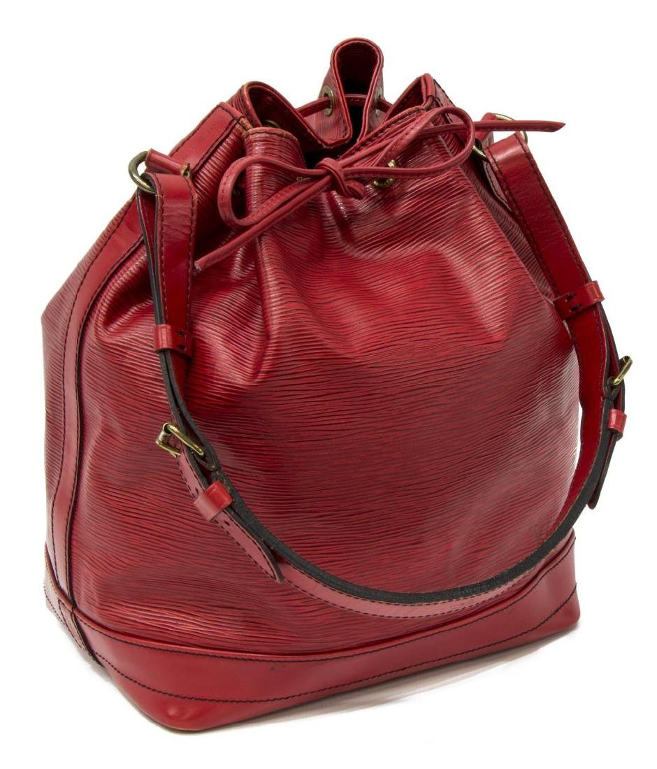 LOUIS VUITTON 'NOE' RED EPI LEATHER BUCKET BAG
