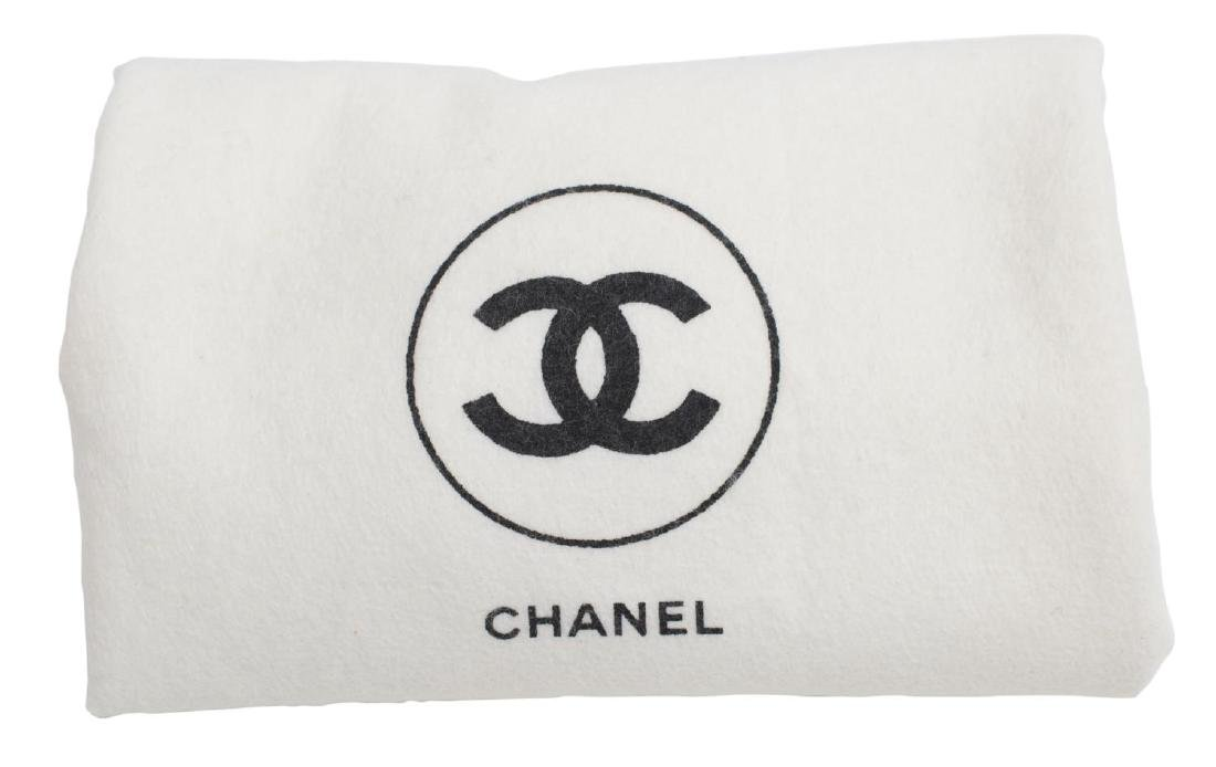 CHANEL 'CAMERA' WHITE QUILTED LEATHER TASSEL BAG - 5