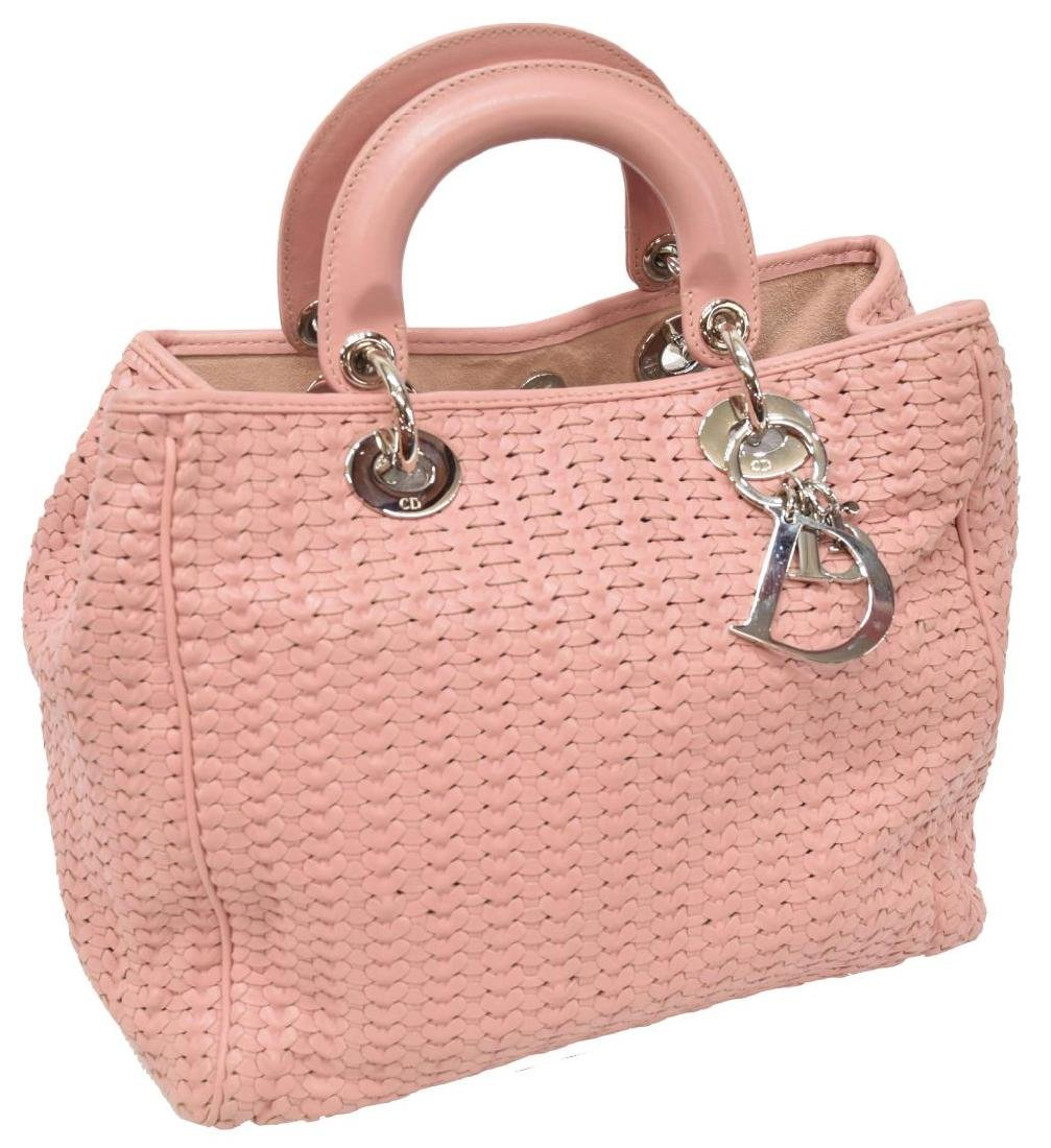 CHRISTIAN DIOR 'LADY DIOR AVENUE' PINK LEATHER BAG