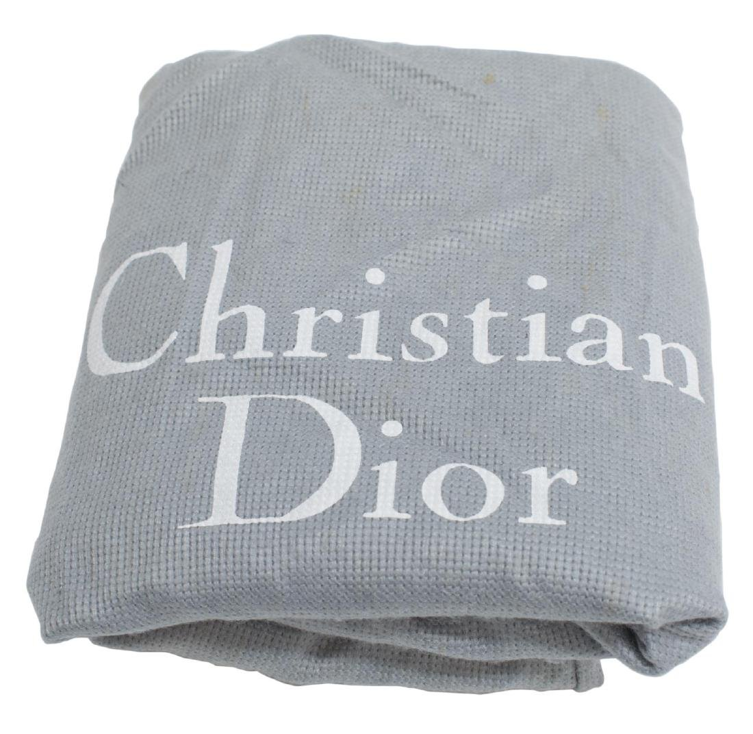 CHRISTIAN DIOR 'LADY DIOR' NAVY CANNAGE NYLON BAG - 5