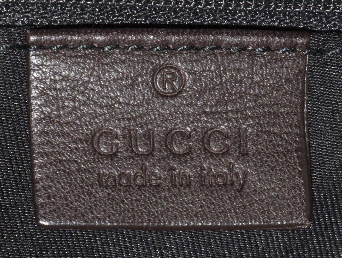 GUCCI BROWN LEATHER D-RING HOBO BAG - 5