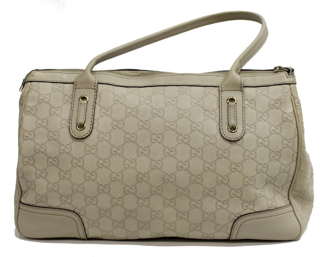 GUCCI 'PRINCY' IVORY GUCCISSIMA LEATHER TOTE BAG - 2