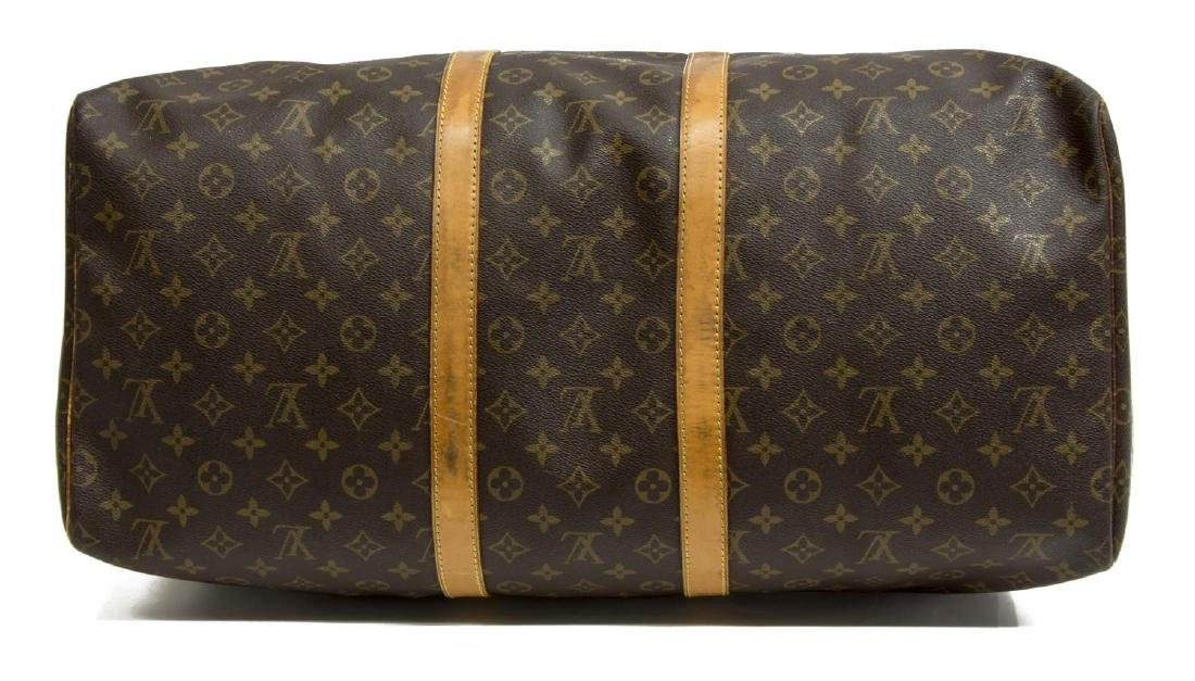 LOUIS VUITTON 'KEEPALL 55' MONOGRAM DUFFLE BAG - 3