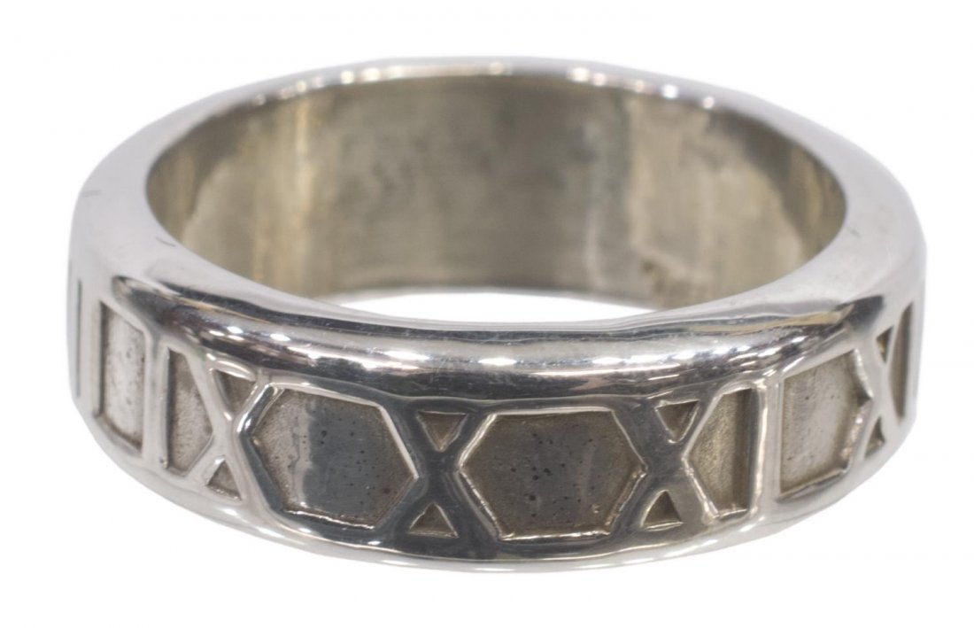 TIFFANY & COMPANY STERLING SILVER ATLAS RING BAND