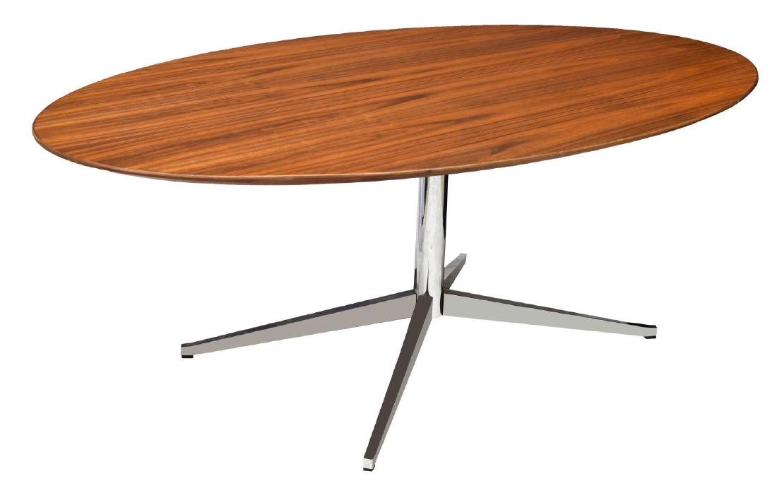 MID-CENTURY MODERN KNOLL INDUSTRIES DINING TABLE