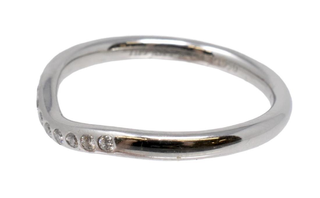 TIFFANY & CO ELSA PERETTI PLATINUM & DIAMOND RING
