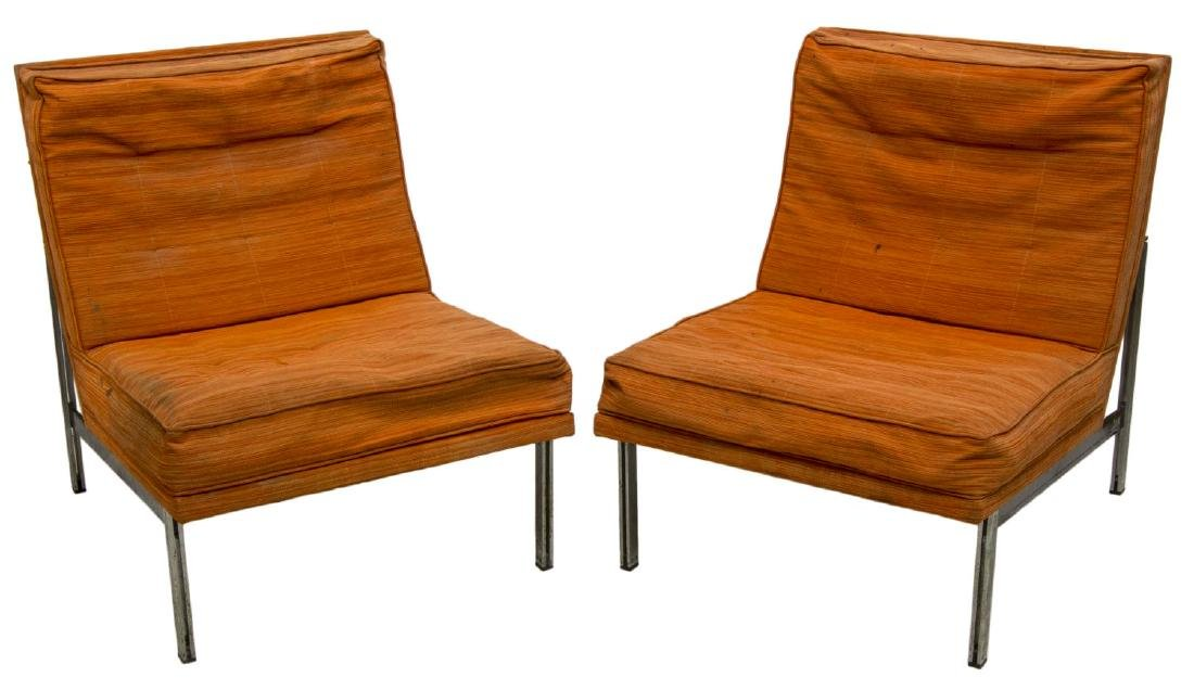 (PAIR) FLORENCE KNOLL 'PARALLEL BAR' LOUNGE CHAIRS