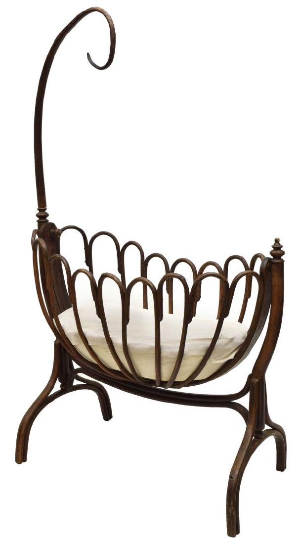 THONET BENTWOOD BABY CRADLE, EARLY 20TH C.