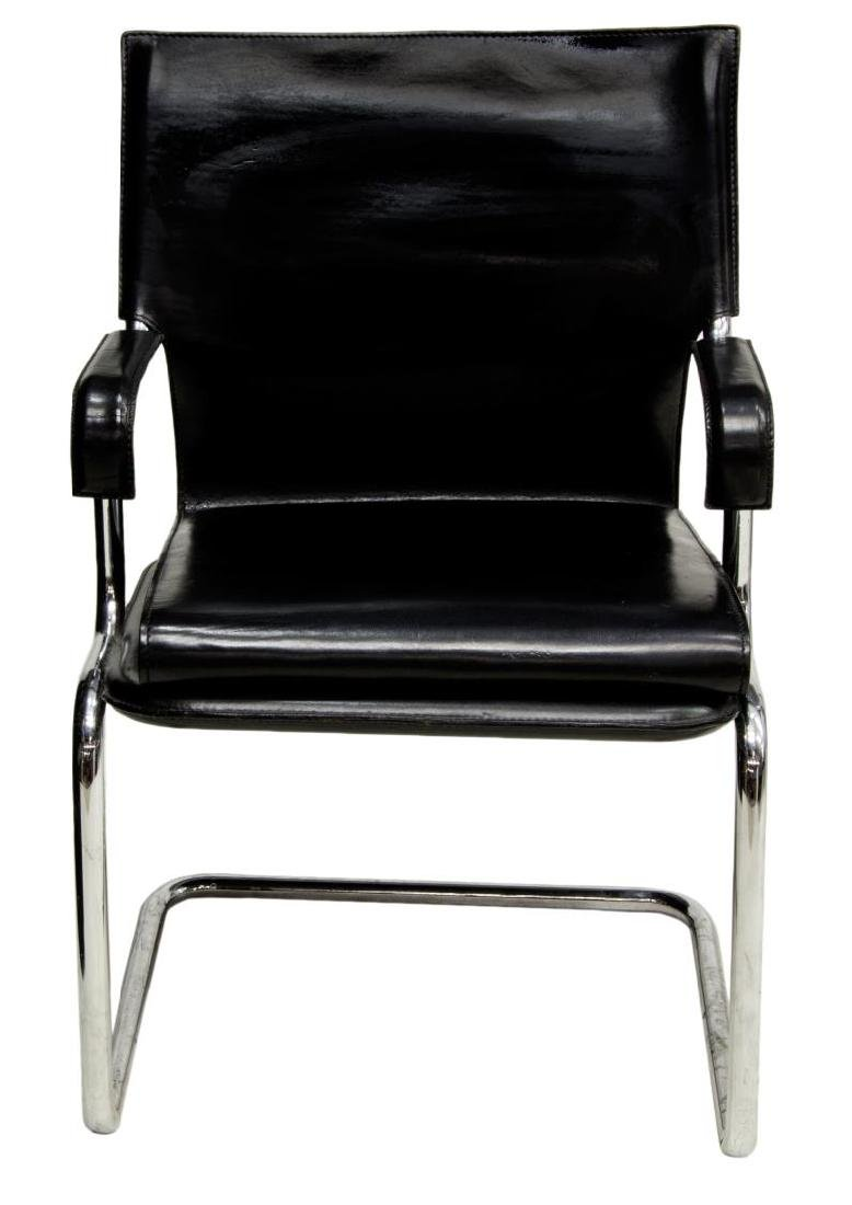 MID-CENTURY MODERN CANTILEVER LEATHER ARMCHAIR - 2