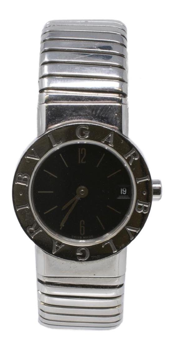 BULGARI 'TUBOGAS' STAINLESS STEEL BRACLET WATCH