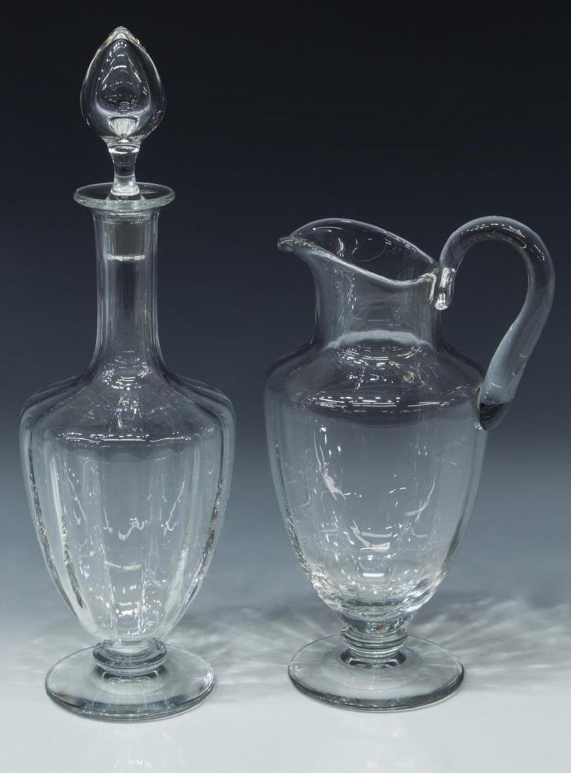 (2) BACCARAT 'CAPRI' CRYSTAL PITCHER & DECANTER