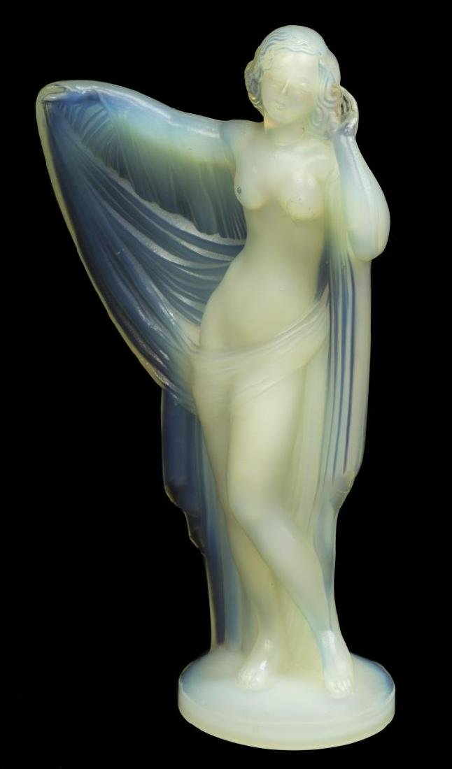 SABINO OPALESCENT ART GLASS 'TANAGRA' FIGURE - 4
