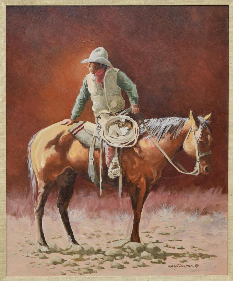 GARY THORNTON (B. 1941) COWBOY PAINTING