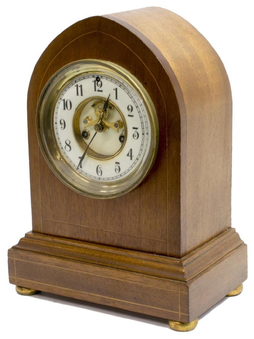 WATERBURY CLOCK CO. BEEHIVE CLOCK, OPEN ESCAPEMENT