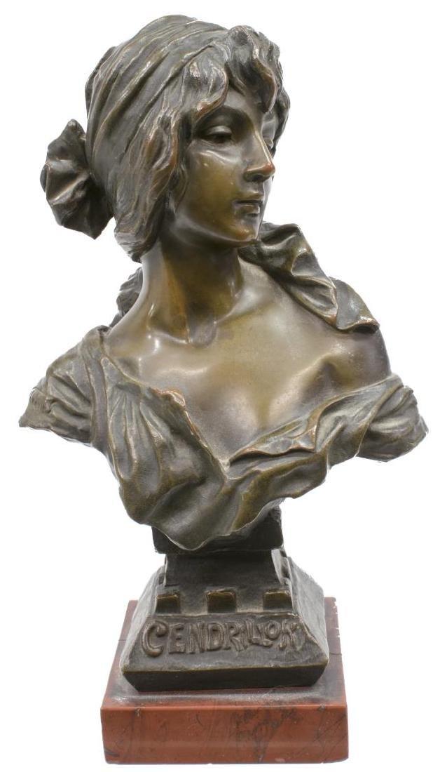 EMMANUEL VILLANIS (1858-1914) 'CENDRILLON' BRONZE
