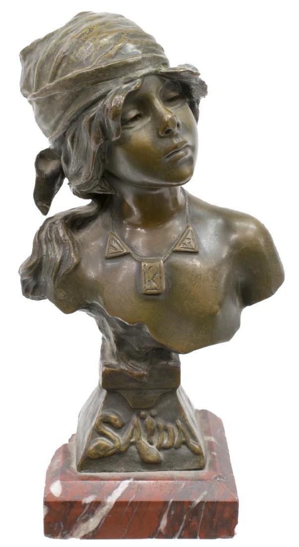 EMMANUEL VILLANIS (1858-1914) 'SAIDA' BRONZE BUST