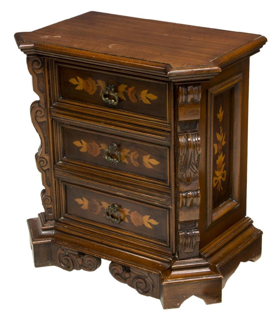 VINTAGE FRENCH MARQUETRY BEDSIDE CABINET