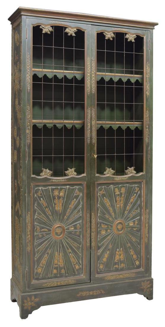 REGENCY STYLE PAINTED CHINOISERIE DESIGN BOOKCASE