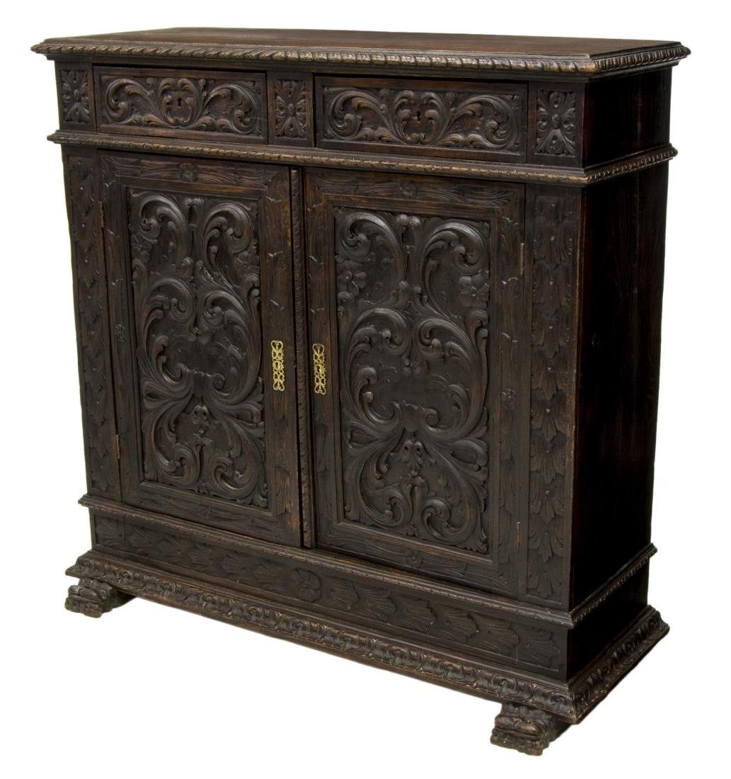 SPANISH CARVED RENAISSANCE REVIVAL SIDEBOARD