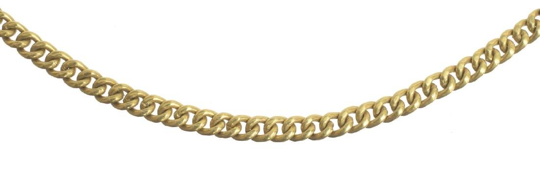 18KT YELLOW GOLD ESTATE CHAIN NECKLACE