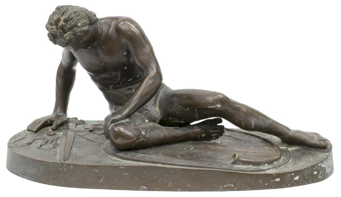 CONTINENTAL BRONZE SCULPTURE 'THE DYING GAUL'