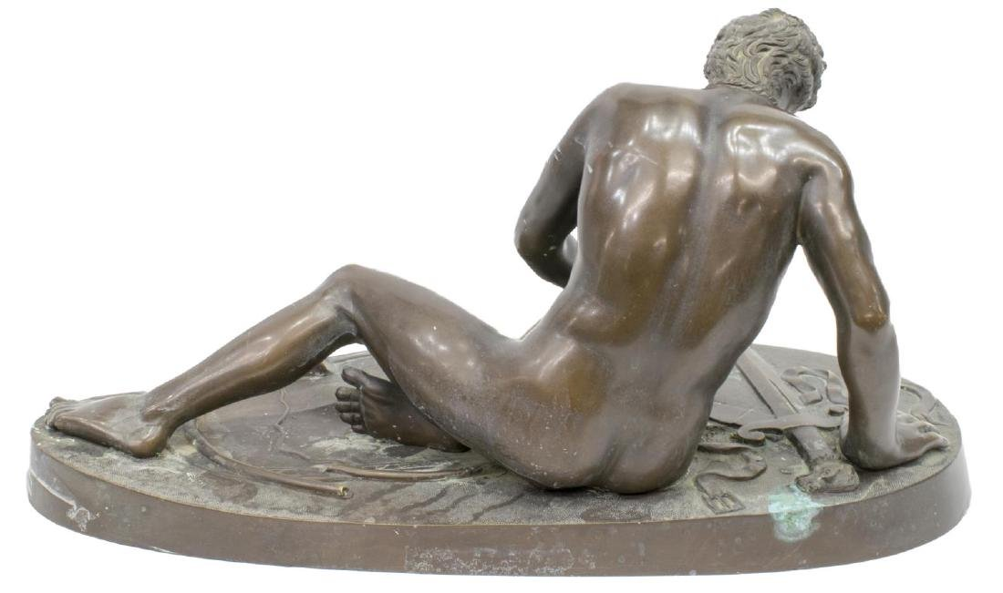 CONTINENTAL BRONZE SCULPTURE 'THE DYING GAUL' - 3