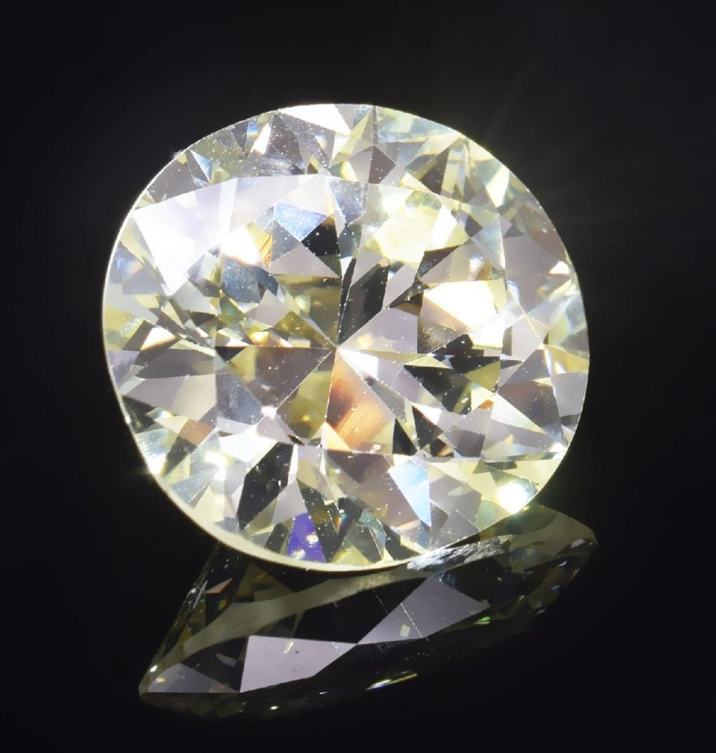GIA ESTATE 13.57 CT CIRCULAR BRILLIANT CUT DIAMOND